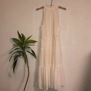 Michael Kors Midi High Neck Cream Dress (S)